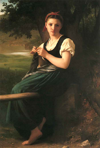 The Knitting Girl  William-Adolphe Bouguereau, 1869